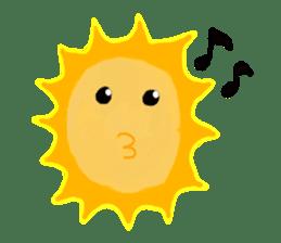 Funny Sun sticker #9474015