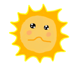 Funny Sun sticker #9474020