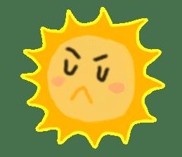 Funny Sun sticker #9474021