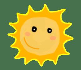 Funny Sun sticker #9474022