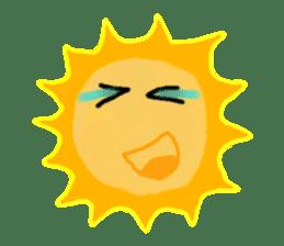 Funny Sun sticker #9474024