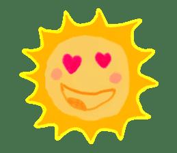 Funny Sun sticker #9474027