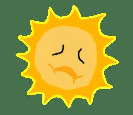 Funny Sun sticker #9474029