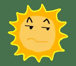 Funny Sun sticker #9474031