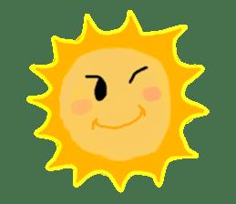 Funny Sun sticker #9474033