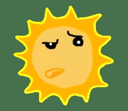 Funny Sun sticker #9474034