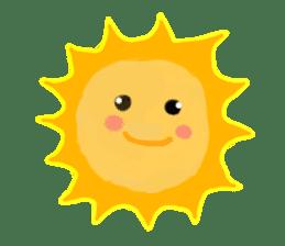 Funny Sun sticker #9474036