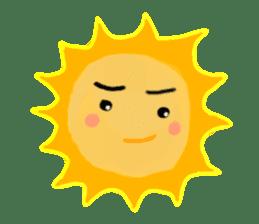 Funny Sun sticker #9474037