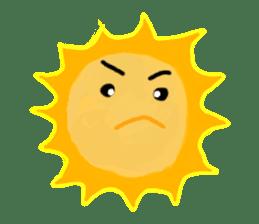 Funny Sun sticker #9474039