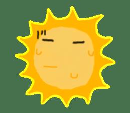 Funny Sun sticker #9474041