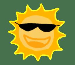 Funny Sun sticker #9474046