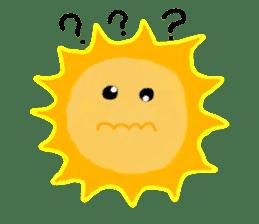 Funny Sun sticker #9474047