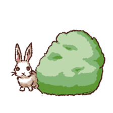 Cute warm fuzzy rabbit sticker #9477862