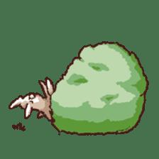 Cute warm fuzzy rabbit sticker #9477863