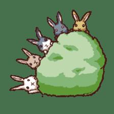 Cute warm fuzzy rabbit sticker #9477864