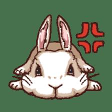 Cute warm fuzzy rabbit sticker #9477866