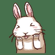 Cute warm fuzzy rabbit sticker #9477868