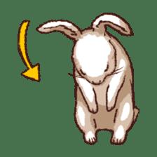 Cute warm fuzzy rabbit sticker #9477869