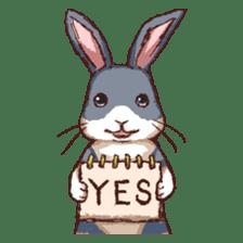 Cute warm fuzzy rabbit sticker #9477876