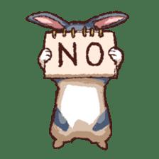 Cute warm fuzzy rabbit sticker #9477877