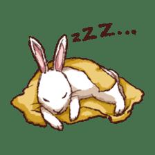 Cute warm fuzzy rabbit sticker #9477878