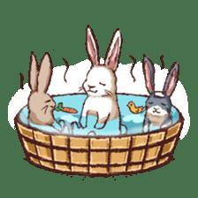 Cute warm fuzzy rabbit sticker #9477880