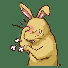 Cute warm fuzzy rabbit sticker #9477885