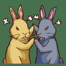 Cute warm fuzzy rabbit sticker #9477886