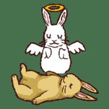 Cute warm fuzzy rabbit sticker #9477887