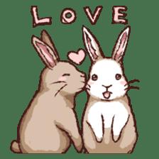 Cute warm fuzzy rabbit sticker #9477891