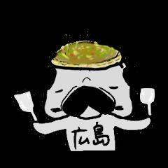 hiroshima pug sticker