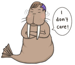 Bipolar Penguin & Moody Walrus (Eng.ver) sticker #9497498
