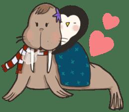 Bipolar Penguin & Moody Walrus (Eng.ver) sticker #9497502