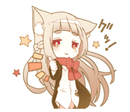 NEKOMIMI girl sticker sticker #9497625