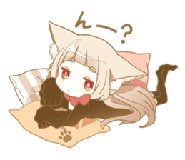 NEKOMIMI girl sticker sticker #9497635