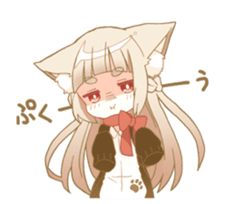 NEKOMIMI girl sticker sticker #9497636