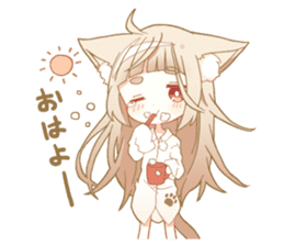 NEKOMIMI girl sticker sticker #9497654