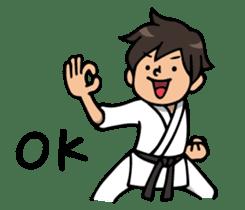 Do your best. karate sticker #9500548