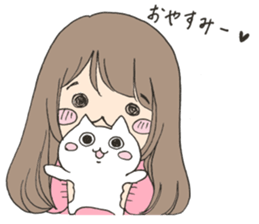 Girl such as the dog sticker #9505783