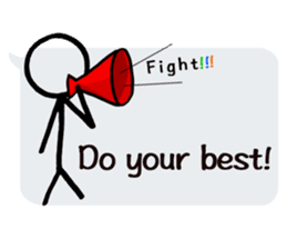 japanese balloon stick man!-English ver- sticker #9511086