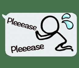 japanese balloon stick man!-English ver- sticker #9511092