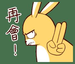 Ugly rabbit by BiBi sticker #9522831