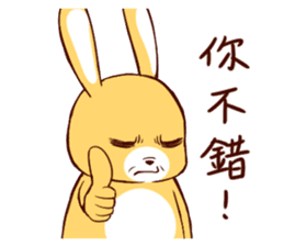 Ugly rabbit by BiBi sticker #9522836