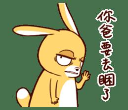Ugly rabbit by BiBi sticker #9522839