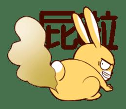 Ugly rabbit by BiBi sticker #9522840