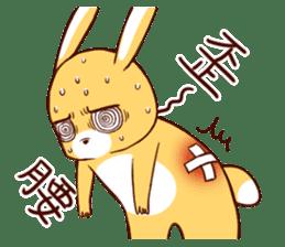 Ugly rabbit by BiBi sticker #9522846