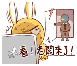 Ugly rabbit by BiBi sticker #9522848