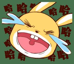 Ugly rabbit by BiBi sticker #9522852