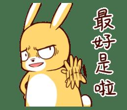 Ugly rabbit by BiBi sticker #9522857