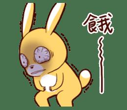 Ugly rabbit by BiBi sticker #9522860